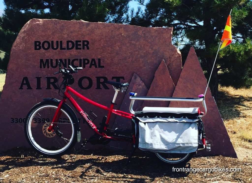 Xtracycle at Boulder Airport